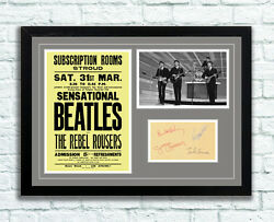 The Beatles Concert Poster And Autographs Memorabilia Poster Stroud 1962 Unframed