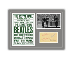 The Beatles Concert Poster And Autographs Memorabilia Poster 1963 Unframed