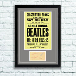 The Beatles Concert Poster And Autographs Memorabilia Poster Stroud Unframed