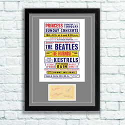The Beatles Concert Poster And Autographs Memorabilia Poster Torquay '63 Unframed