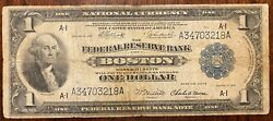 1918 1 Dollar Bill. Blue Seal. Large Note.