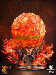 B.p Studio One Piece King Of Fire Portgas·d· Ace Gk Collector Resin Led Statue