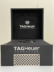 Tag Heuer Connected Sbf8a8001 11ft6076 Smart Watch Mens Black 45 Modular Digital