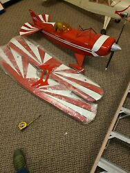 Very Large 68 Wide 60 Long Pitts S-2s Red Remote Control Biplane Great Planes