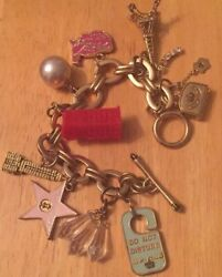 Vintage Juicy Couture Travel Charms Bracelet Phone Booth Eiffel Map And More