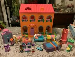 """Rare Dora The Explorer Talking """"magical Welcome Dollhouse"""" Accessories House"""