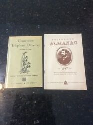 Telephone Almanac 1947 Atandt Annual Bell 100th Anniversary And Telephone Directory