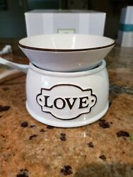Scentsy Electric Wax Warmer quot;Lovequot; and Wax