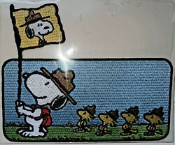 Peanuts Snoopy as Beagle Scout Patch and Comic Card by Willabee and Ward