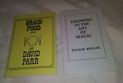 Eugene Burger Signed Book And David Parr Notes Bill Switch Mullica Wallet Theory
