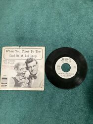 Vintage1960 Paul Winchell/jerry Mahoney 7 45rpm Record W/ Sleeve