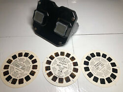 Vintage Viewmaster Viewer With 3 Reels View Master Sleeping Beauty Bugs Bunny