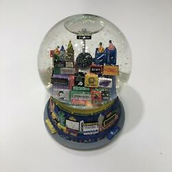 New York City Year 2000 Snow Globe Broadway Twin Towers Music Box Time Square