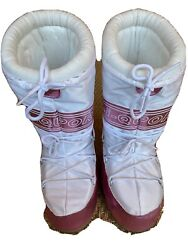 Donald J Pliner Sport-i-que Snow/moon Boot White/pink Womens Us Size 7