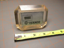 Texaco Lucite Clock Vintage Collectible Old Gift Gas Station Time Advertising Wi