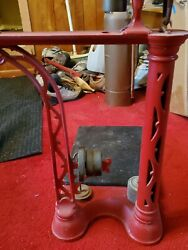 Red Antique Fairbanks Cast Iron And Brass Scale