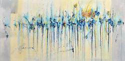 Glimpse Of Paradise - Abstract Art - 24 X 48 In - Large Abstract Painting