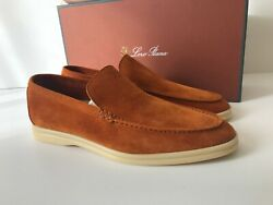 Loro Piana Summer Walk Sand Camel Suede Loafer Size Us 7 / Eu 41 Made In Italy