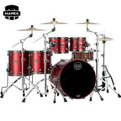 Mapex Saturn Evolution Workhorse 5pc Birch Drum Shell Pack Tuscan Red Lacquer