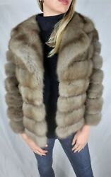 Brand New Topl Russian Sable Marten Fur Jacket With English Collar All Sizes