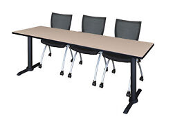 Cain 84 X 24 Training Table And 3 Apprentice Chairs