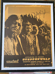 Steppenwolf Goldy Mcjohn Signed Fillmore Era Poster On Special Cloth