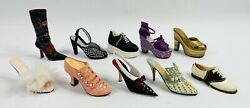 Vtg Just The Right Shoe By Raine Collectorand039s Assortment Lot Of 10 Read Desc.