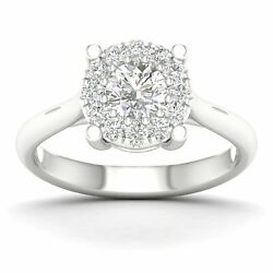 0.81ct Natural Diamond Solitaire Ring 18k White Gold Jewelry