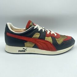 Rs-100 Mongolian Shoe Bbq Sample Red Gold Black Leather Menand039s 11 - Rare