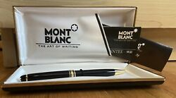 Mont-blanc Vintage Ball Point Pen The Art Of Writing In The Case And Sleeve
