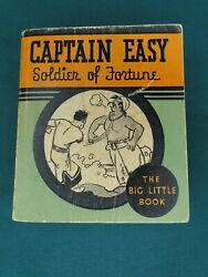 Whitman Big Little Book Captain Easy Soldier Of Fortune 3-color Softcover Sweet