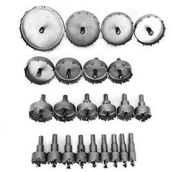 23pcs Drill Hole Saw Set Hardware Accessory Cut Tool Tct Carbide 0.6in-3.9in