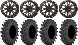 System 3 St-3 Br 14 Wheels 30x9.5 Outback Max Tires Polaris Rzr Turbo S / Rs1