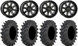 System 3 St-4 Black 14 Wheels 32 Outback Max Tires Can-am Commander Maverick