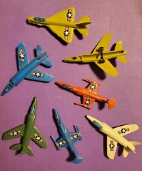 Lot Of Vintage Plastic Toy Airplanes Mixed Lot Usaf Jet Plane Toy