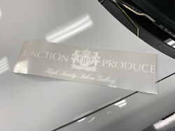 Junction Produce Large Logo Sticker Decal Rare Collectible Vip Car White