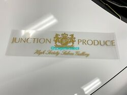 Junction Produce Large Logo Sticker Decal Rare Collectible Vip Car Gold