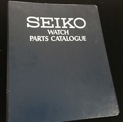 Watchmakerand039s Seiko Watch Parts Catalog Thick Binder To 6105 6139 Others C. 1976
