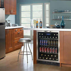 Danby, 24 Inch Built-in Beverage Center With 11-bottle Capacity, Dbc514bls
