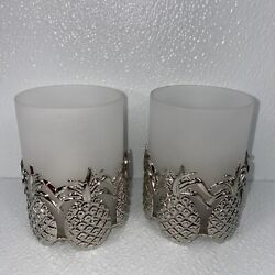 Lenox Williamsburg Pineapple Votive Candle Holders 2 Kirk Stieff Collection