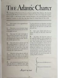 The Atlantic Charter Churchill And Roosevelt Designed By Bruce Rogers C. 1943