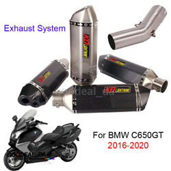 For Bmw C650gt 16-20 Motorcycle Exhaust System Muffler Pipe Mid Link Connect Tip