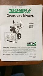 Yard Machine By Mtd 24 8hp Electric Start Two-stage Snow Blower No Shipping