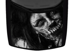 Zombie Woman Undead Greyscale Horror Hood Truck Wrap Vinyl Car Graphic Decal