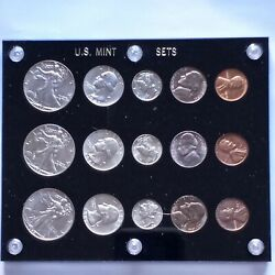 1941 Us Mint Set P S D With Gorgeous Nickels Toning. Beautiful Collection