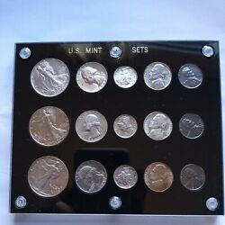1942 Us Georgeous Mint Set P S D. Great Nickels Tone. Le420 Scarce Collection