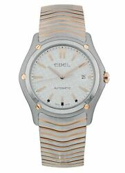 Ebel Classic Automatic 18k Rose Gold And Steel Silver Dial 41mm Mens Watch 1216087