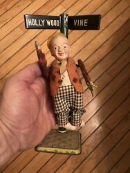 Antique Tin Toy Wind Up Fred Astaire Hollywood And Vine Rare Collectible