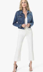 Joe's Jeans The Wyatt White High Rise Crop Flare Size 27 Was £194.95 Now £76