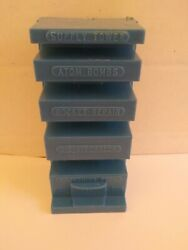Marx Cape Canaveral Tiered Supply Tower Plastic Blue Atom Bombs Rocket Repair